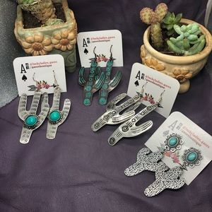 🌵 Sale Fashion Jewelry Stamped Metal Cactus Ear